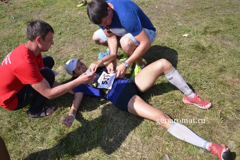 Antonina Ogorodnikova- после финиша