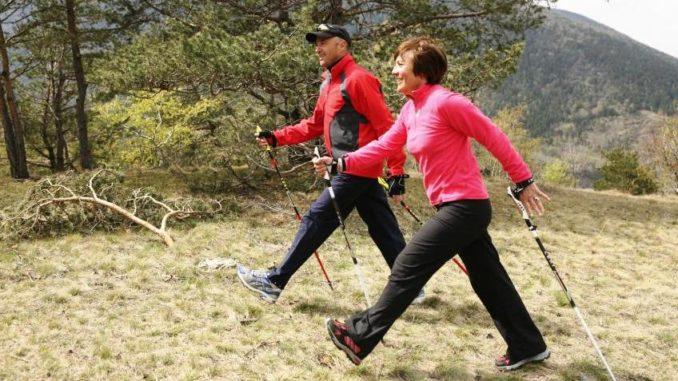 Скндинавская ходьба для пожилых