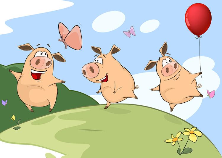 Свиньи рисунки смешные