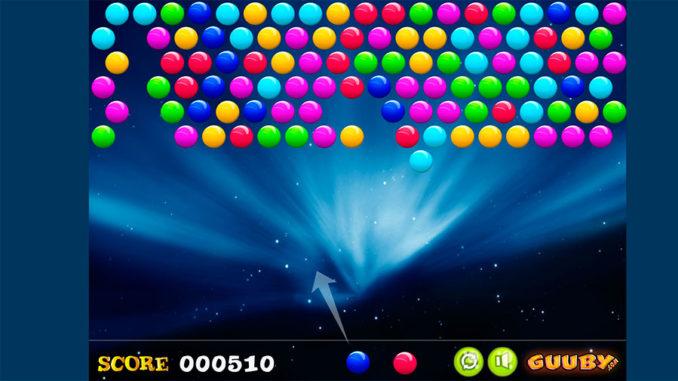 Игра в шарики- стрелок пузырями