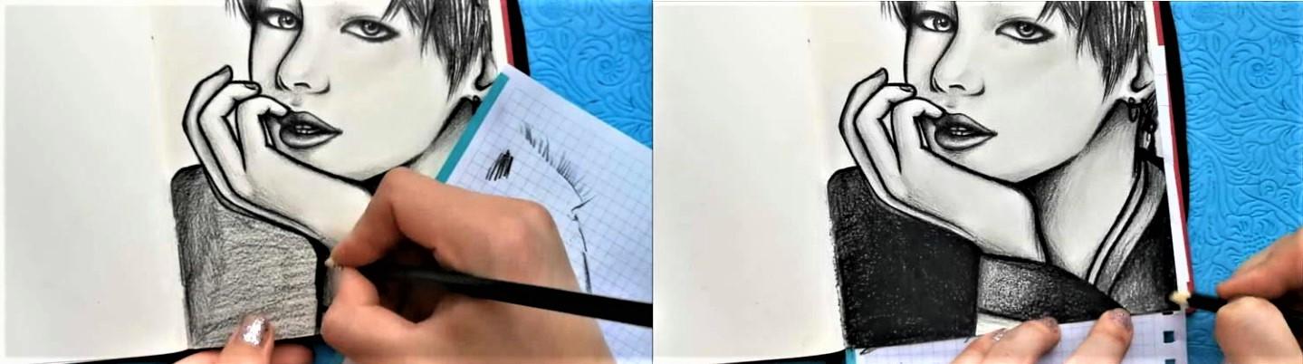 Как нарисовать BTS поэтапно-12