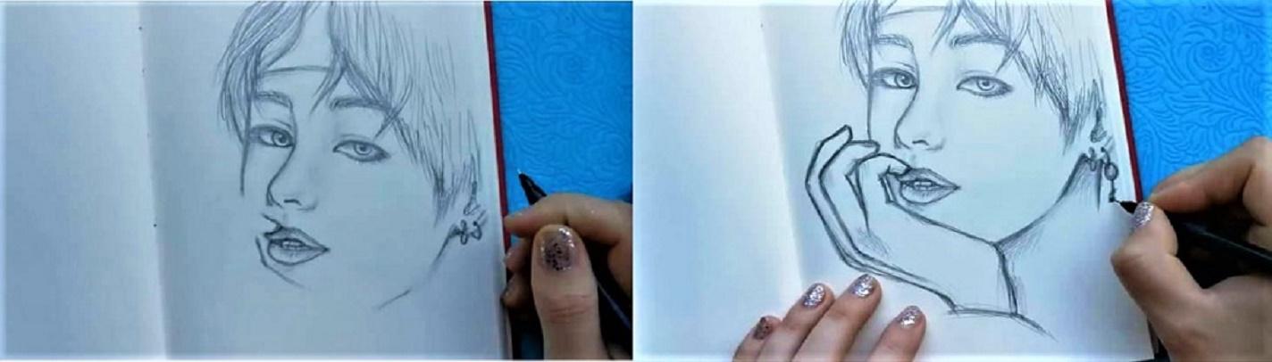 Как нарисовать BTS поэтапно-7