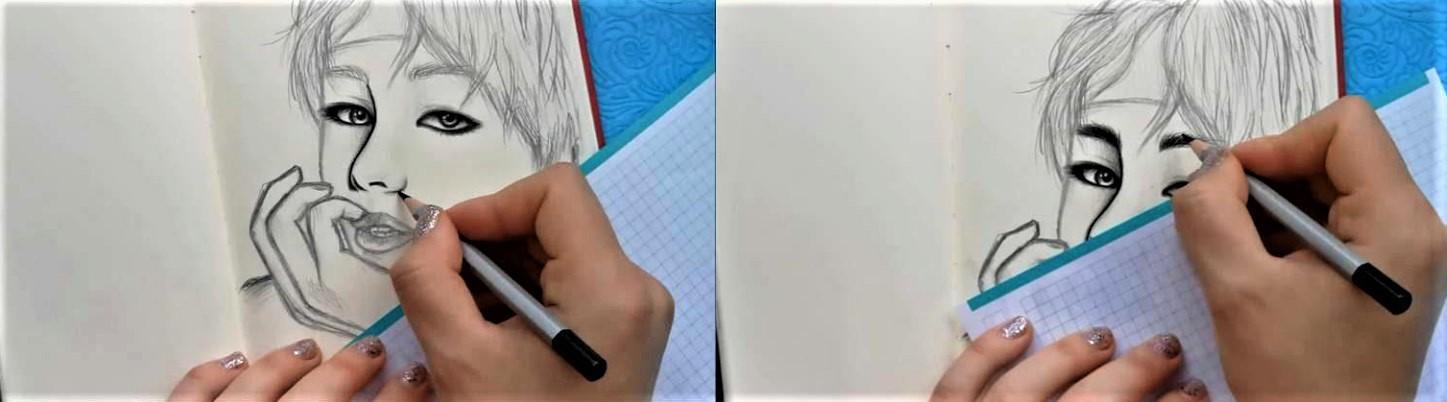 Как нарисовать BTS поэтапно-9
