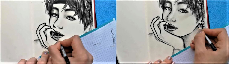 Как нарисовать BTS поэтапно-11