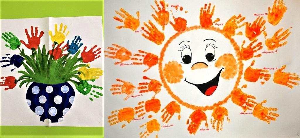 детские открытки с ладошками ко Дню матери