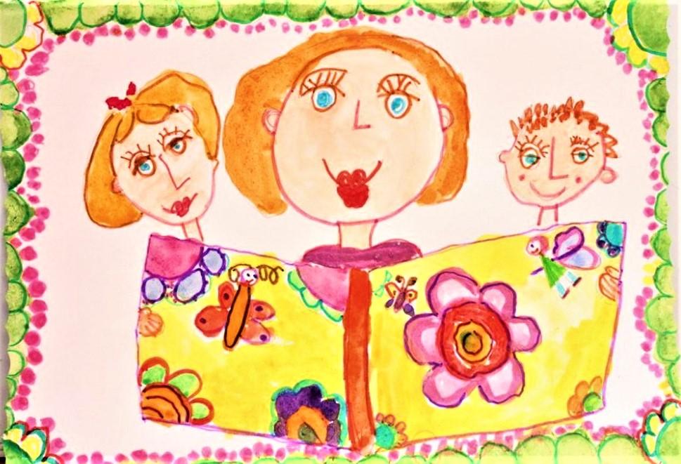 Картинки к дню матери для 1 класса, под открытку