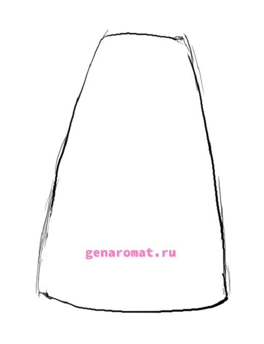 Как нарисовать русский народный костюм - сарафан. Рисуем поэтапно - карандашом