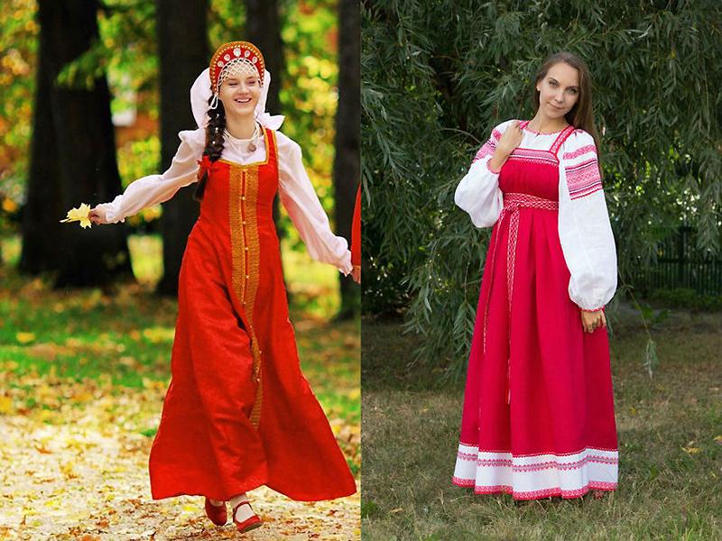 Сарафан для невесты на Руси